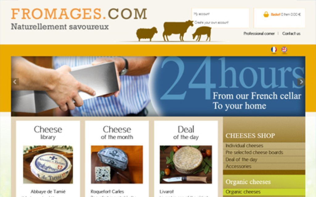 E-commerce Fromages.com