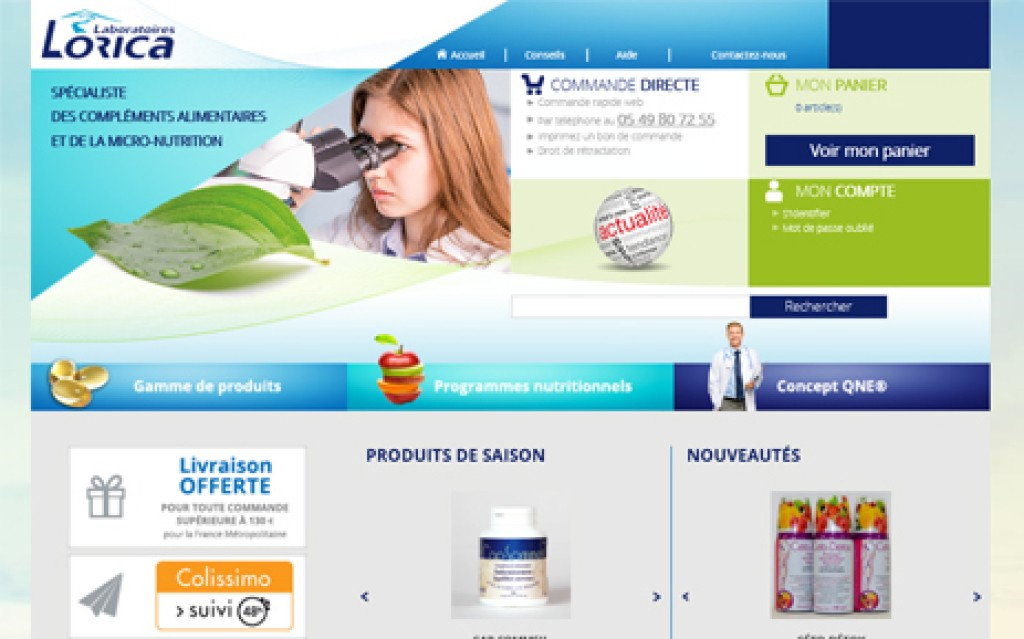 E-commerce Laboratoires Lorica
