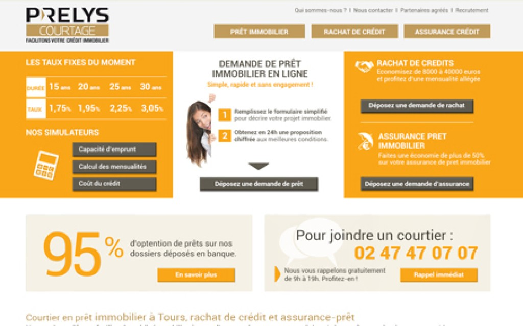 Site internet Prelys Courtage
